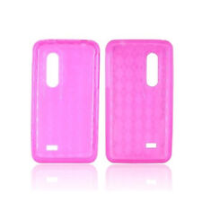 For AT&T LG Thrill 4G P925 TPU Candy Flexi Gel Skin Case Phone Cover Pink Plaid