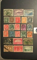 Stamps Canada Lot of 24 early used pre 1938  see scans and detail.