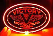 "SB199 Victory Motorcycle Wall Display Neon Light 3d Acrylic Sign New 12""x7.75"""