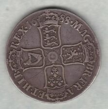 More details for 1688 james ii silver crown in good fine or slightly better condition