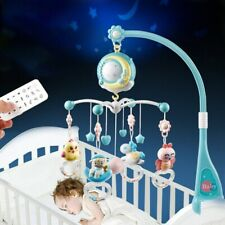Baby Crib Mobile Musical Bed Bell With Controller Music Night Light Newborn Toys