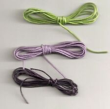 6 x 1m strands waxed cotton cord - mixed colour packs - choice of pack