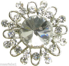 SILVER BROOCH DIAMANTE BRIDAL BOUQUET CAKE DECORATIO SHOE PIN JEWELLERY NEW - UK