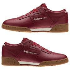 Men's Reebok Classic Workout Clean Shoes Cranberry Red