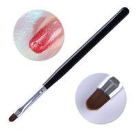 Nail Acrylic Painting Pen UV Gel Brush Oval Black Handle W/Cap Manicure Tools