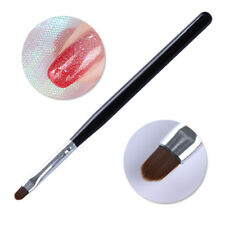 Nail Acrylic Painting Pen UV Gel Brush Oval Black Handle W/Cap Manicure Tools