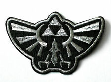 Legend of Zelda Hyrule silver crest embroidered iron on patch