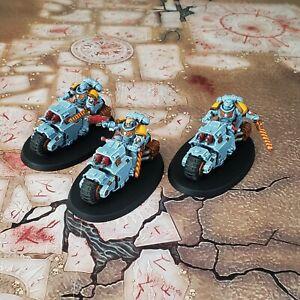 Warhammer 40K Painted Indomitus Primaris Outriders Space Wolves Lot 1