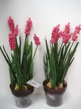 2 12in Potted Pink Lavender Bushes Artificial Silk Flowers Plants OFFER
