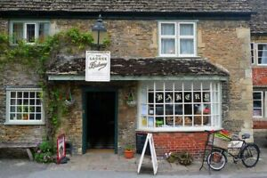 Lacock Village Bakery Wiltshire England UK Photograph Picture