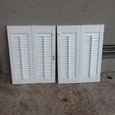 indoor louver Shutters White Window Interior  Folding Bi-fold 17 X 24 Tall