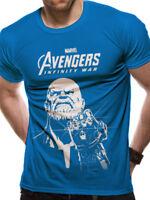 Thanos Infinity Gauntlet Official Avengers Infinity War Marvel Blue Mens T-shirt