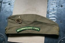 ORIGINAL EARLY WW2 RECONNAISSANCE CORPS AUSTERITY SIDE CAP AND SHOULDER TITLE