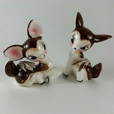 Deer Fawn Salt & Pepper Shakers Figurines Quality Product Japan Vintage
