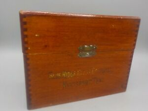 Antique Blue Ridge Glass Corp Tennessee Salesmans Sample Wood Box Wooden Display