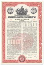 California Electric Power Company Bond Certificate