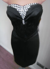 Amy Childs for Lipsy Black Bead Embellished Strapless Dress BNWT 8 RRP £80