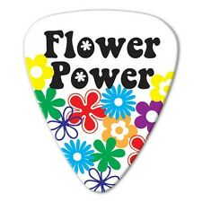 5 x Hippie Flower Power Guitar Picks *NEW* Grover Allman Bag of 5, 0.8mm gauge