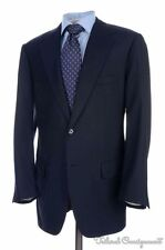PAUL STUART CHOICE St. Andrews Blue SUPER 130 WOOL Jacket Pants SUIT Mens - 41 R