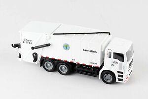 Daron New York City Sanitation Department Garbage Truck Die Cast Metal White
