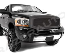 06-08 Dodge Ram 1500+06-09 RAM 2500+3500 Matte Black Packaged Mesh Grille+Shell