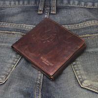 New Mens Wallet KOREA -670 Vintage Genuine Leather Bifold Coin Pocket Purse Hot