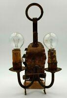 Lampada Antica Applique in ferro battuto 30 cm Vintage Illuminazione Parete Casa