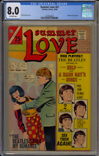 Charlton Comics Summer Love #47 1966 CGC 8.0 Beatles Romance Cover OFW Pages