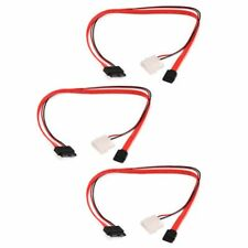 Micro SATA 13pin To Molex Power CD/DVD Drive Cable Adapters Power Cables