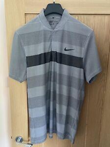Nike Modern Blade Golf Dri-Fit Polo Top - Golf - Large - Collarless - Grey