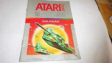 Notice INSTRUCTIONS Livret booklet ATARI 2600- GALAXIAN