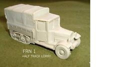 WWII FRENCH / BELGIAN HALF TRACK LORRY ) RESIN MODEL KIT -  20MM - FB1
