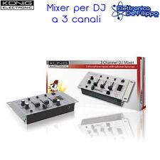 Mixer per DJ a 3 canali kn-djmixer10