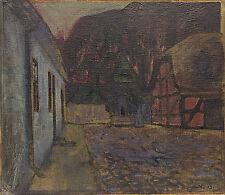 Künstlerische Malerei von 1900-1949 auf Leinwand im Jugendstil