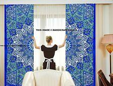 Mandala Curtains Set Decorative Indian Tab Top Curtains Door Valances Tapestries