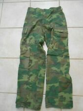 Vintage Small Army Military Tropical Wr Poplin Camouflage Trouser Vietnam Pants