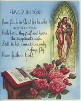 VINTAGE CHRISTMAS VILLAGE TOY SHOP 1 JESUS CHILDREN WINDOW ROSES FAITH GOD PRINT