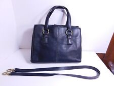 FOSSIL - $$$ Black leather hand bag, tote w/extra strap to use as a crossbody