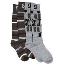 Scott Winter Tech Snowboard Ski Socks 2-Pack Large Grey