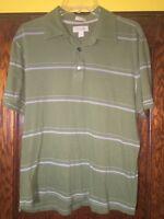 Banana Republic Mens Large Pima Cotton Short Sleeve Green Polo Shirt L C13