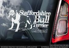 Staffordshire Bull Terrier - Car Window Sticker - Staffie Staffy Dog Sign - V10