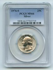 1976 S 25C Silver Washington Quarter PCGS MS66