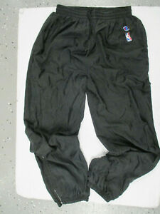 VINTAGE CHAMPION NBA AUTHENTIC SEWN XL WARM-UP BLACK SWEAT PANTS PREOWNED 90s