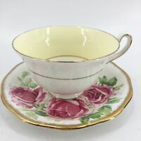 Vintage Rosina Bone China Teacup & Lady Margaret Saucer Made in England