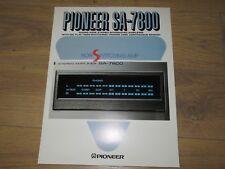 Pioneer Stereo Amplifier SA-7800 Original Catalogue Specs