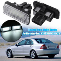 2X 18LED Number License Plate Light Lamp For Mercedes-Benz W203(5D) W211