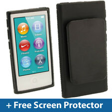 Noir TPU gel case clip pour nouveau apple ipod nano 7ème génération 7g Couverture Shell