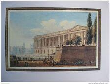 reproduction gravure vue du palais du Louvre prise rue d Angivillier 1754 - 1826