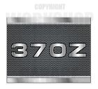 370Z - METAL LOOK TEXT - CARBON MESH LOOK Stickers