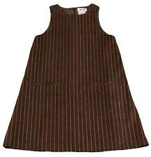 JACADI Girls Arabica Mocha, Striped Sleeveless Corduroy Dress SZ 2 Years NWT $61